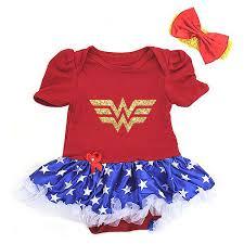 newborn halloween onesies amazon com cute wonder woman gold baby first birthday tutu