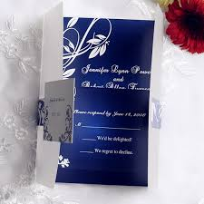 royal wedding cards royal blue pocket wedding invitations with rsvp cards ewpi055 as