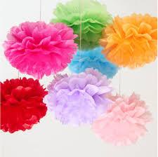 aliexpress com buy tissue paper flowers ball diy pom poms