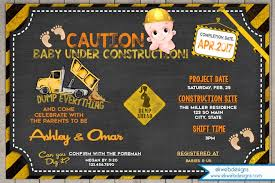 construction baby shower baby shower invitation construction baby shower invite