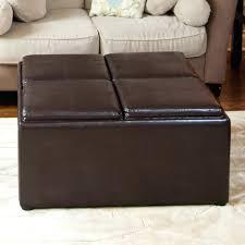 grey leather storage ottoman faux leather storage ottoman with trays espresso black target square