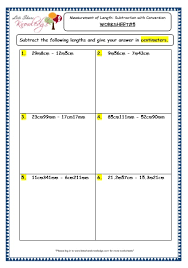 grade 3 maths worksheets 11 5 measurement of length