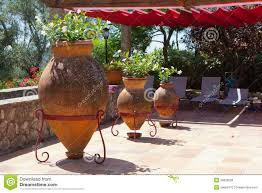Potted Plants For Patio A Beautiful Patio With Pot Plants Stock Photo Image 20836208