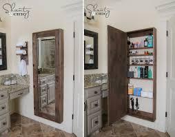 Bathroom Mirror Storage How To Make Bathroom Mirror Storage Diy Crafts Handimania
