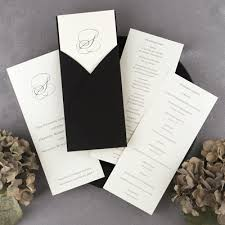 folded wedding program wedding program bright white