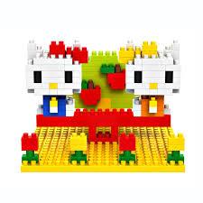 loz kitty seesaw building blocks building bricks action