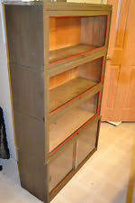 Metal Lawyers Bookcase Glass Antique Bookcases 1900 1950 Ebay