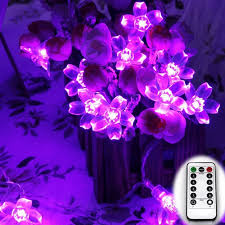 remote control christmas lights remote control battery powered 6m 60led cherry blossom christmas led