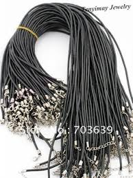 necklace cords clasp images Wholesale 100pcs lot rubber necklace cords free shipping fashion jpg