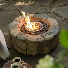 Propane Fire Pits With Glass Rocks by Remarkable Roscoe Gas Fire Table 67811a Outdoor Fireplaces Ace