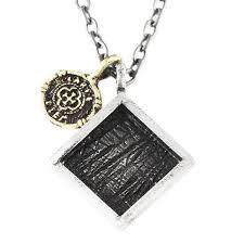 mens necklace with pendant images Carpe diem mens silver necklace geometric pendant jpg