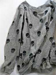 skull sweater sweater grey skull cotton grey jumper shirt