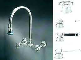 wall kitchen faucet peerless wall mount kitchen faucet goalfinger