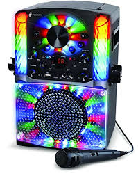 singing machine with disco lights singing machine bluetooth cd g karaoke system black sml625btbk