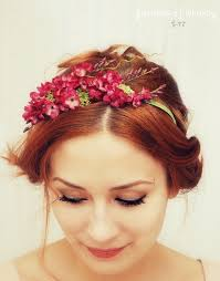 flower headpiece floral headband pink flower crown hair accessories