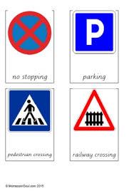 printable montessori curriculum free montessori printable for road signs montessori pinterest