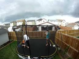 Trampoline Backyard Trampoline Flies Out Of Backyard Jukin Media