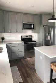 what color backsplash with gray cabinets open kitchen design with studio gray cabinets island