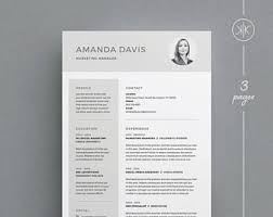 indesign resume etsy