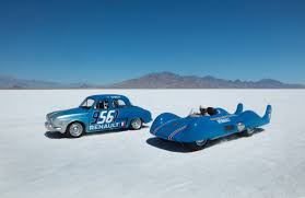 old renault renault returned to bonneville to celebrate an old speed record