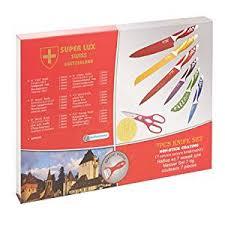 swiss kitchen knives 7 pcs swiss knife set non stick coating co uk