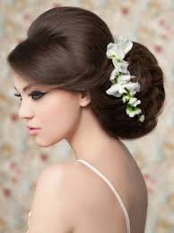 bridal hair with strapless dress hollywood official