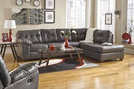 Rustic Chaise Lounge L Shaped Dark Grey Leather Sectional With Chaise Lounge And Rustic