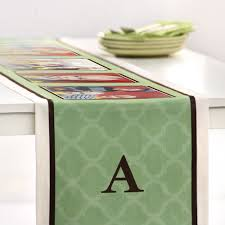 Shutterfly Home Decor Mosaic Monogram Custom Table Runner Personalized Home Decor