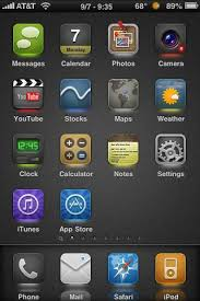 Iphone 5 Top Bar Icons 27 Best Winterboard Theme For Ios Devices 2013