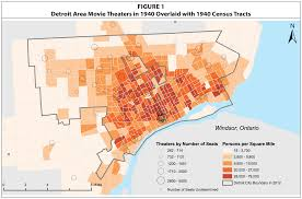 Detroit In World Map by Map Detroit Area Movie Theaters 1940 Detroitography
