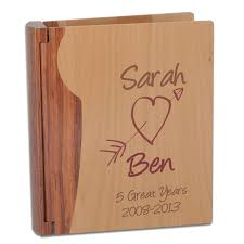 personalised photo albums personalised wooden anniversary photo album