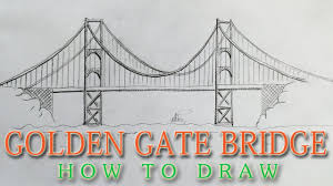 how to draw the golden gate bridge easy san francisco landmark