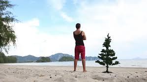 Guy in Beachwear in the Stock Footage Video 100 Royaltyfree