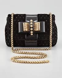 christian louboutin sweet charity velvet crossbody bag black in