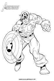 123 dessins de coloriage captain america à imprimer