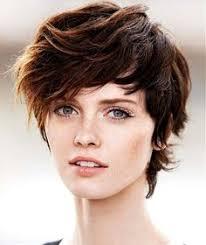 short shag haircuts for oblong face shaggy pixie cut round face google search hair pinterest