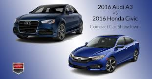 audi a3 vs bmw 3 series 2016 audi a3 vs 2016 honda civic compact car showdown prestige