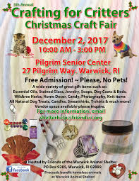 5th annual crafting for critters christmas craft fair support