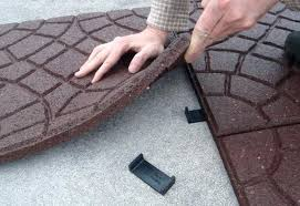Recycled Rubber Patio Pavers Ideas Rubber Patio Tiles Or Step 3 22 Recycled Rubber Patio Pavers