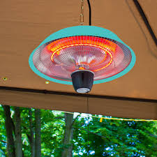Electric Patio Heaters Energ Hanging Electric Infrared Heater Silver Hayneedle