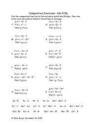 composition functions no foil by we u0027re bruyn math tpt