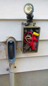 outdoor outlet wiring help with black red and white electrical