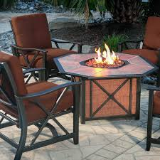 Agio Outdoor Patio Furniture by Agio Haywood Gas Fire Pit Get Warmth Beauty U0026 Class