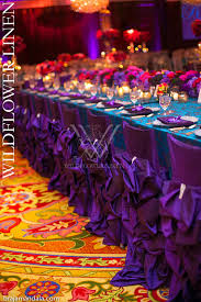purple chair covers blue purple wildflower linen