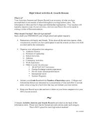Resume For Scholarship Example Resume For High Student Resume Example And Free
