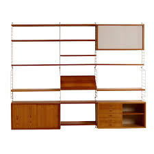 60 S Design Vintage Pinewood Wall Unit U002760s By Nisse Strinning For String