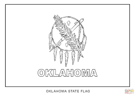 flag of oklahoma coloring page free printable coloring pages