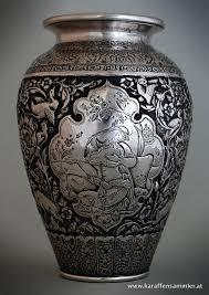 Silver Vase Qajar Esfahan Persian Silver Vase Silver And Art From Iran And