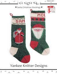 knitting pattern for christmas stocking free santa christmas stockings yankee knitter pattern download