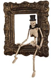 Folk Art Halloween Decorations I U0027ve Been Framed Skeleton